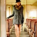 Frau im Zug - Model Sabine - von Fotograf Ulf Pieconka